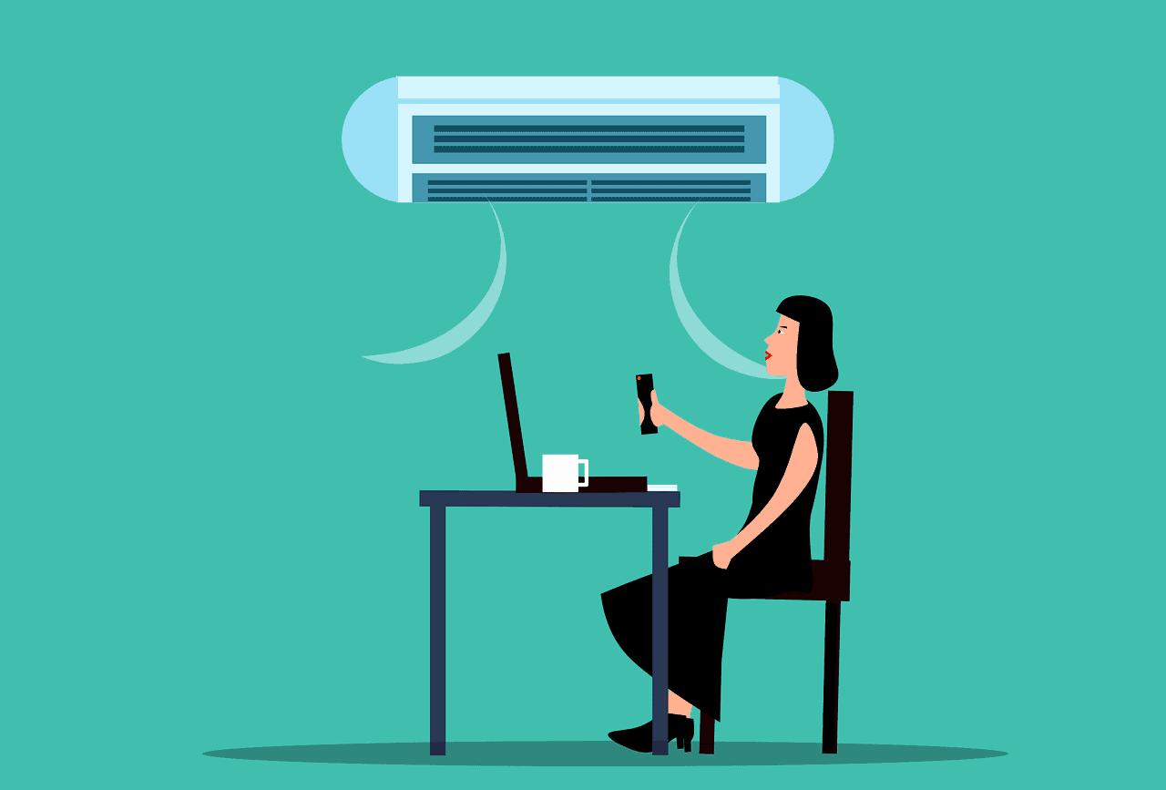 La température maximale dans un bureau